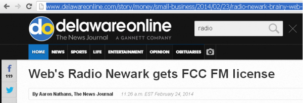 Radio Newark Brainy Web Station Gets FCC License